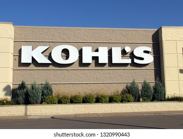Spencer, Wisconsin, February, 23, 2019    Kohl's sign on the front of the store  Kohl's is operated by Kohl's Corporation and was founded in 1962