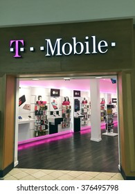 SPENCER , WISCONSIN, February,14,, 2016   T Mobile Store in a retail shopping mall