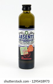 Spencer, Wisconsin, January, 25, 2019    Mini bottle of  Absente   Absente is a product of Switzerland