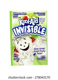 SPENCER , WISCONSIN, May, 12, 2015  Package of Watermelon Kiwi Flavored Kool-Aid. Kool-Aid is now owned by Kraft Foods and was invented in 1927