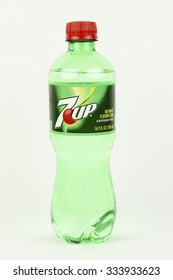 SPENCER , WISCONSIN, November, 1, 2015   Bottle of 7up Soda  &up is a Lemon Lime flavored soft drink first introduced in 1929