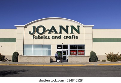 Spencer, Wisconsin, November, 13, 2016 Jo-Ann Fabrics and Crafts store with customers entering the building