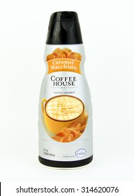 SPENCER , WISCONSIN, September, 8, 2015  Bottle of Coffee House Caramel Macchiato  Coffee Creamer  Coffee House is a product of International Delight and launched in 1987