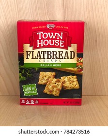 Spencer, Wisconsin,December, 31, 2017  Box of Town House Flatbread Crackers  Town House is a product of the Kellogg Company