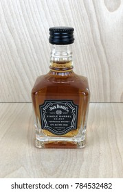 Spencer, Wisconsin,January,1,2018    Mini bottle of Jack Daniel's Tennessee Whiskey  Jack Daniel's is an American brand of Tennessee Whiskey