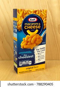 Spencer, Wisconsin,January,7,2018    Box of Kraft Macaroni & Cheese  Kraft is an American Grocery congloerate