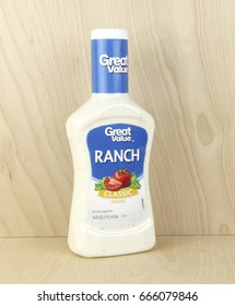 Spencer, Wisconsin,June, 24,, 2017   Bottle of Great Value Ranch Dressing  Great Value is a label from different distributors for Wallmart stores