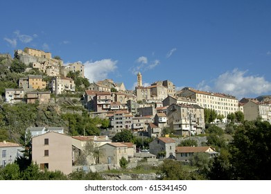 Spending a day in the town Corte in Corsica France