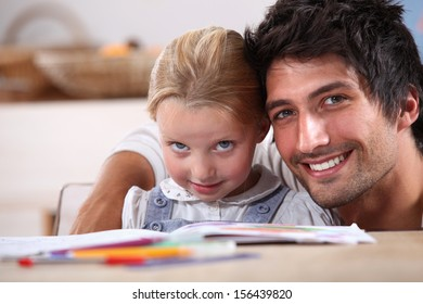 Spending time with his daughter