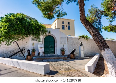 SPETSES, GREECE, 05 MAY 2019 : The house/museum of Laskarina Bouboulina heroine of the Greek war of independence in Spetses island, Greece