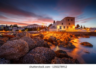Spetses, Greece - January 19, 2018: View of the harbour in Spetses, Greece.