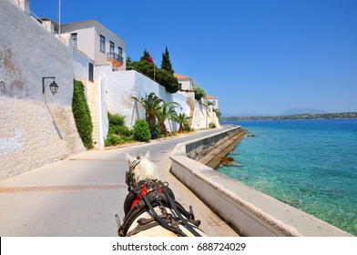 Spetses island in Greece. Carriage