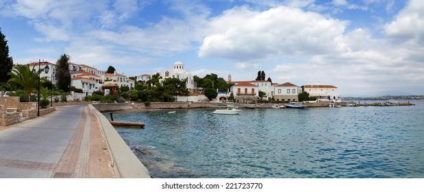 Spetses island waterfront, Greece