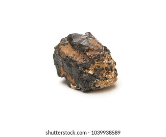 Sphalerite mineral - chief ore of zinc isolated on white background