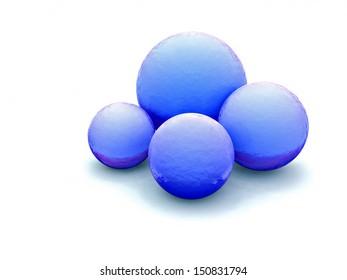 sphere on white