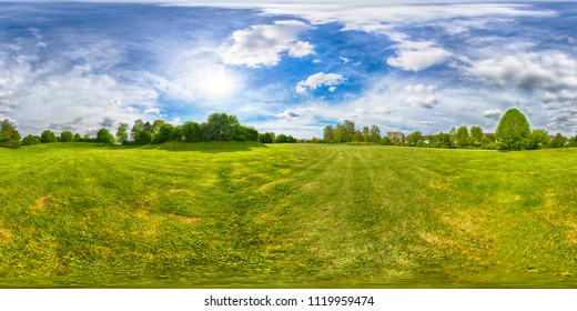 Spherical 360 degrees seamless panorama view in equirectangular projection, panorama of natural landscape in Germany. VR content