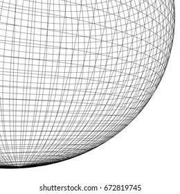 spherical lines background