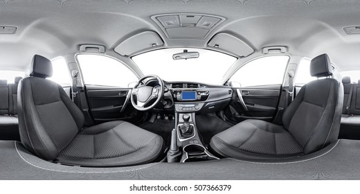 Spherical panorama 360 inside car equidistant panorama inside car. Vehicle interior car panorama 360 degree of auto virtual panorama vehicle interior 360 panorama of auto. Inside automobile panorama