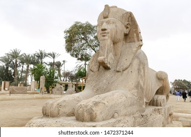 Sphinx in Ancient Capital Memphis, Cairo, Egypt
