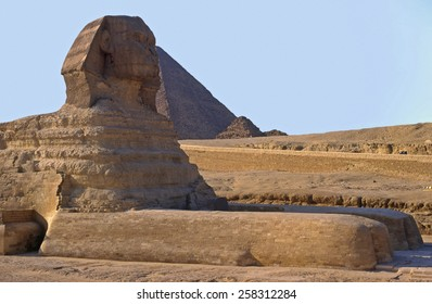 The Sphinx and Cheops piramid. Gizeh. Cairo. Egypt