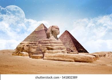 Sphinx Egypt Sphinx with Pyramids