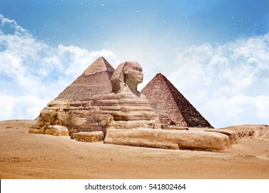 Sphinx Great Sphinx of egypt with pyramdis