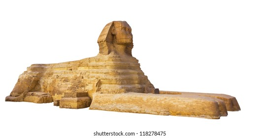 sphinx on a white background