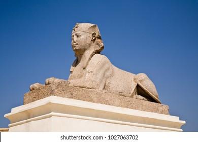 Sphinx at Pompey's Pillar, Alexandria
