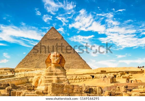 Sphinx und Pyramid, Kairo, Ägypten