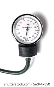 Sphygmomanometer isolated on white