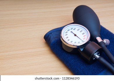 Sphygmomanometer on the table