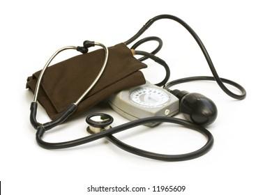 sphygmomanometer stethoscope tool old pressure measure kit