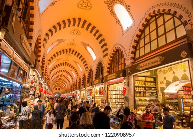 Spice Bazaar in Istanbul is one of the biggest closed markets in the city./Istanbul,Turkey,May 2018