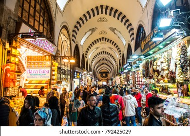 Spice Bazaar in Istanbul is one of the biggest closed markets in the city./Istanbul,Turkey,December 2017
