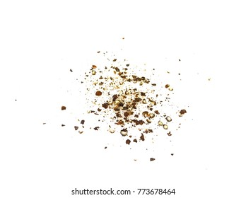 Spice of black pepper isolated on white background.