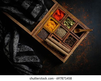 The spice box with special ingredients.