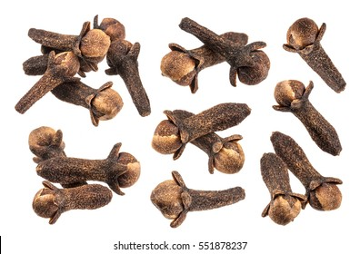 Spice cloves isolated on white background