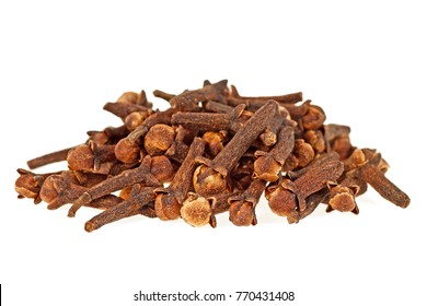 Spice cloves isolated on a white background