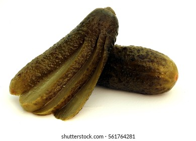 Spice cucumbers isolated