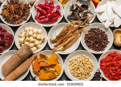 Spice dishes with medicinal herbs