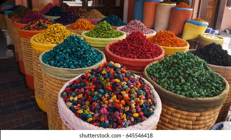 Spice shop on The Jemaa el Fna squre in Marrakesh. Morocco