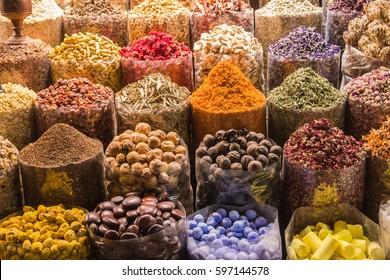 Spice souk in Dubai, UAE