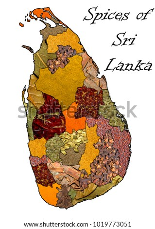 Sri Lanka Political Map.Spice Sri Lanka Political Map India Stock Photo Edit Now