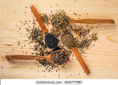 Spice Wooden Spoon Cumin Herbs