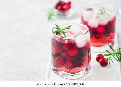 Spiced cranberry kombucha sangria. Selective focus, space for text.
