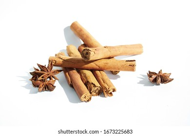 spices, anise star, cinnamon bar, fragrant spices on a white background, cloves, anise, spices on a white background, fragrant spices, isolate