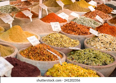 spices for cooking on sale at the city bazaar
