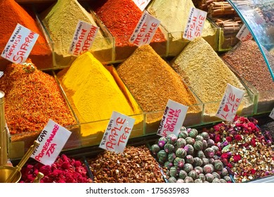 Spices and Herbs at Grand Bazaar, Istanbul.