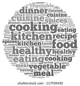 Spices info-text graphics and arrangement concept on white background (word cloud)
