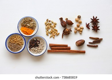 Spices ingredients in Thai cooking